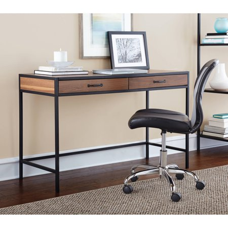 Mainstays Metro Desk with 2 Drawers, Multiple