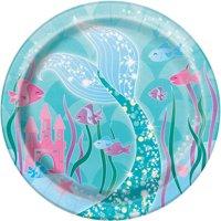 Mermaid Paper Dessert Plates, 7in, 8ct
