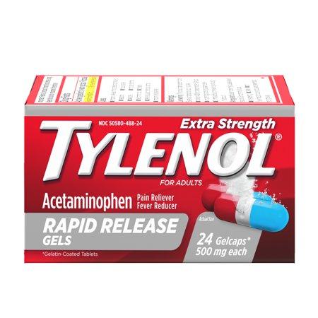 Tylenol Extra Strength Rapid Release Gels with Acetaminophen, 24 ct ()