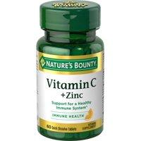 Nature's Bounty Vitamin C + Zinc Quick Dissolve Tablets, 60 count