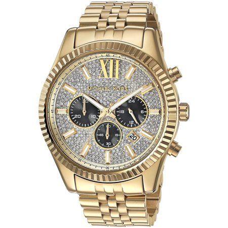 Men's Gold-Tone Lexington Chronograph Watch (Anodized Chronograph)