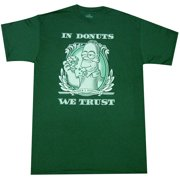 7a5cb0195 The Simpsons In Donuts We Trust Adult T-shirt