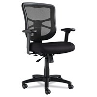 Alera Elusion Series Mesh Mid-Back Swivel/Tilt Office Chair, Black
