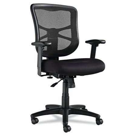 Alera Elusion Series Mesh Mid-Back Swivel/Tilt Office Chair, Black ()