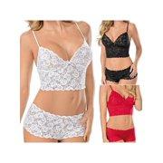 a8511f3b9180 MarinaVida Women Lace Bra Set Sexy Push Up Bra Underwear Lingerie Panties  Crop Tops Bralette