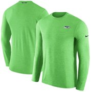 d0ea84b055cc6 Seattle Seahawks Nike Sideline Coaches Primary Logo Long Sleeve Performance  T-Shirt - Neon Green