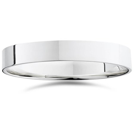 950 Platinum 5mm Flat Comfort Fit Wedding Band Ring
