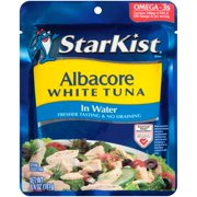(2 Pack) StarKist Albacore White Tuna Pouch in Water, 6.4 Ounce Pouch