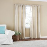 Mainstays Room Darkening Solid Woven Window Curtain Panel Pair