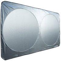 OxGord Auto Car Sunshade Foldable Windshield Sun Shade Visor for Heat Block Wind Shield Screen UV Rays Full Protection, Trucks SUVs Vans