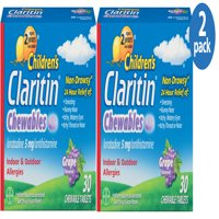 Children's Claritin 24 Hour Allergy Relief Grape Chewable Tablet, 5 mg, 30 Ct