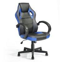 FurnitureR Tunney Blue PU Racing Gaming Chair