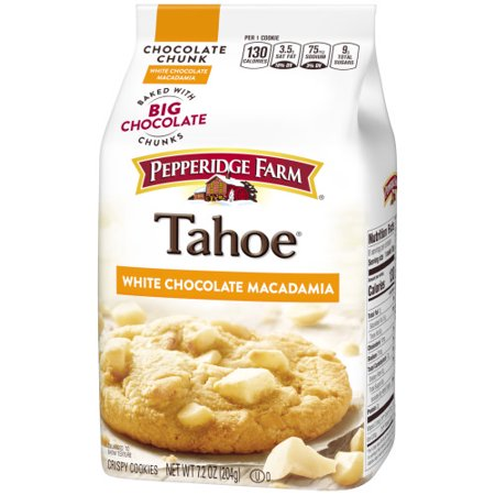 (2 Pack) Pepperidge Farm Tahoe Crispy White Chocolate Macadamia Cookies, 7.2 oz. Bag