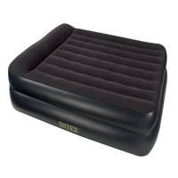 Home Source Intex Pillow Rest Blue Downy Air Queen Bed w/ 120V Pump