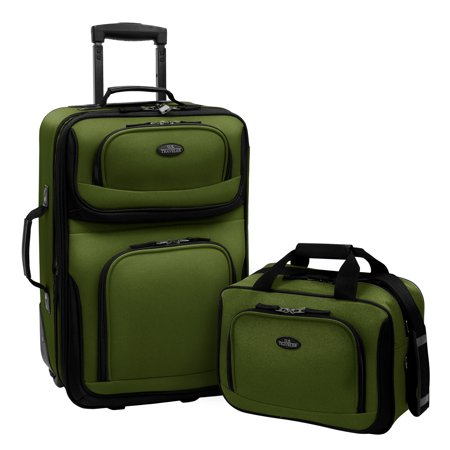 2 Piece Luggage Set (U.S. Traveler Rio 2-Piece Carry-On Luggage Set )