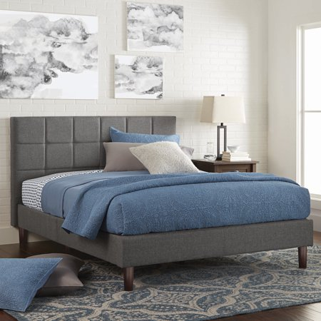 - Better Homes & Gardens Knox Upholstered Platform Bed, Multiple Sizes