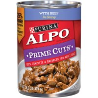 Purina ALPO Prime Cuts With Beef in Gravy Wet Dog Food, 13.2-Oz, Case of 12