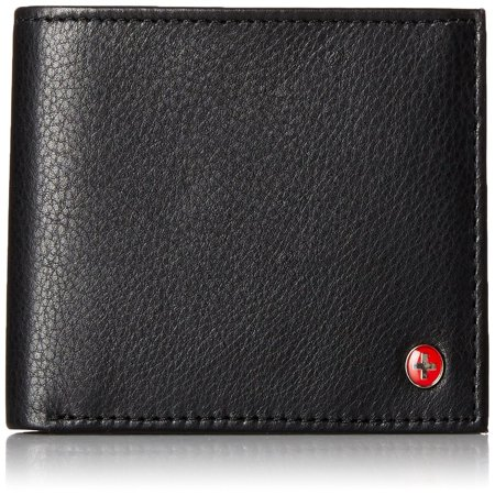 RFID Blocking Mens Leather Bifold Wallet Removable ID Card -