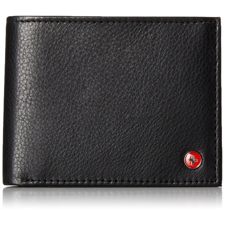 RFID Blocking Mens Leather Bifold Wallet Removable ID Card (Ostrich Bi Fold Wallet)