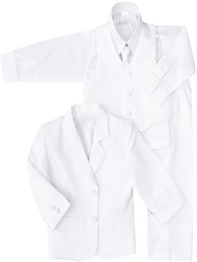 Black N Bianco Baby Boys' Formal Black 5 Piece Dress Suit