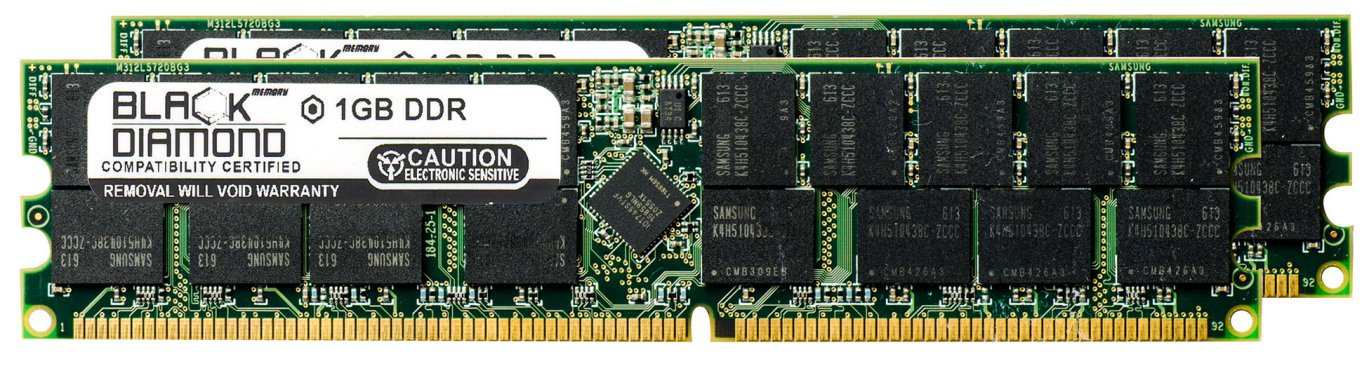 2GB 2X1GB Memory RAM for HP Server tc2120, tc6100, tc7100, Cc3310 184pin PC2100 266MHz DDR RDIMM Black Diamond Memory Module (Tc2120 Server)
