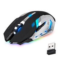 TSV Rechargeable X70 2.4GHz 7 Color LED Backlit Wireless USB Optical Gaming Mouse Mice For Computer Laptop