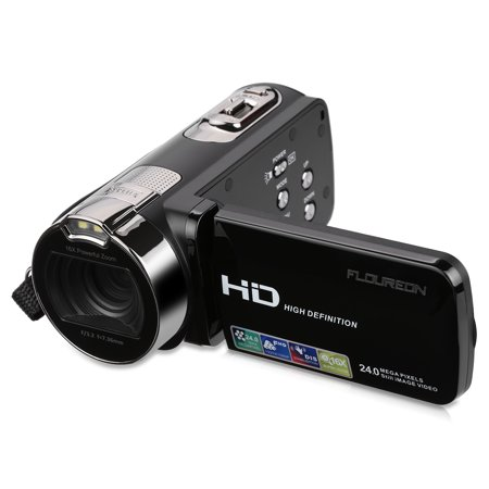 FLOUREON HD 1080P Camcorder Digital Video Camera DV 2.7 TFT LCD Screen 16x Zoom 270 Degrees Rotation for Sport /Youtube/Short Films Video Recording