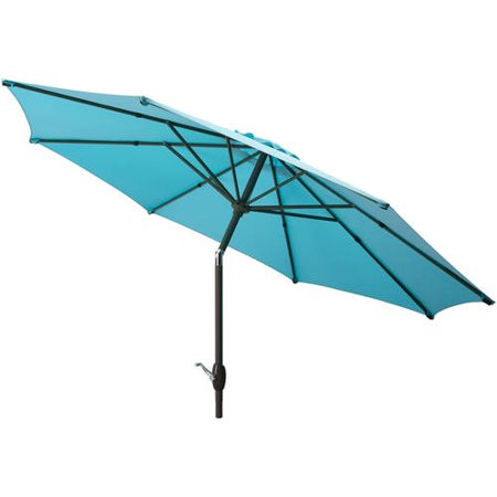 Mainstays 9' Outdoor Market Umbrella- Turquoise