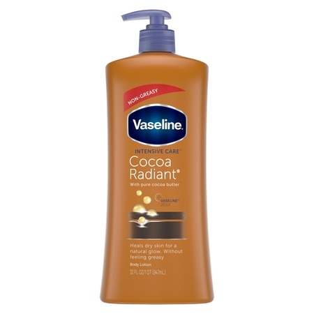 - Vaseline Intensive Care Cocoa Radiant Body Lotion, 32 oz