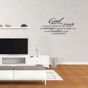 God Grant Serenity Prayer Vinyl Wall Decal Quotes Wall Stickers Religious Decals Home Decor Decals JR34