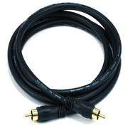 6ft Coaxial Audio/Video RCA Cable M/M RG59U 75ohm (for S/PDIF, Digital Coax, Subwoofer & Composite Video