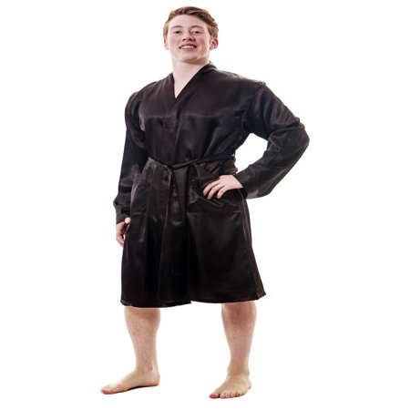Up2date Fashion's Men's Satin Robe - Mens Tall Robe