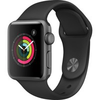 Refurbished Apple Watch Gen 2 Series 1 38mm Space Gray Aluminum - Black Sport Band