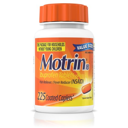 Motrin IB, Ibuprofen 200mg Tablets for Pain & Fever Relief, 225