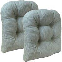 """Gripper Non-Slip 15"""" x 15"""" Venus Tufted Universal Chair Cushions, Set of 2"""