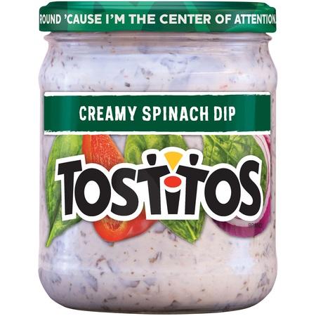 (2 Pack) Tostitos Creamy Spinach Dip, 15 Oz ()