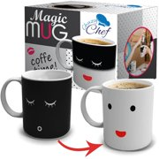 3e3fca979d7 Heat Color Changing Mug Gift 12 Oz Heat Sensitive Color and Smiley Face  Morning Changing Drinkware