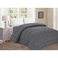 Elegant Comfort Ultra Plush Down Alternative Double-Filled Comforter %100 HypoAllergenic, King/Cal King , Gray