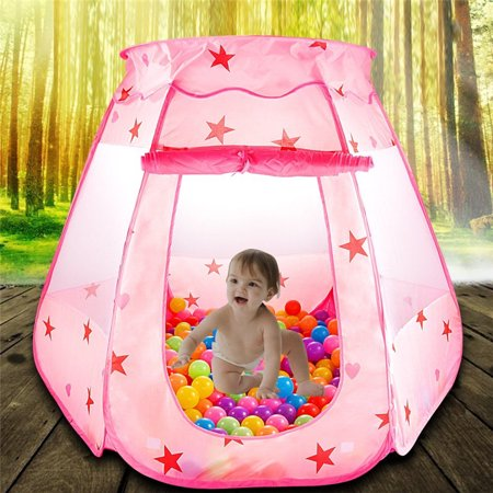 EECOO Folding Princess Ball Pit Tent for Girls Indoor and Outdoor 1 to 8 Years Old Toys, Children Game Pop Up Play Castle Tent - Popular Toys For 6 Year Old Girls