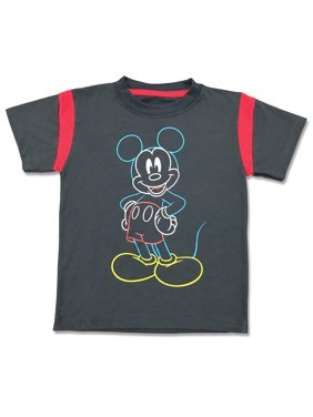 Short Sleeve Mickey Mouse Graphic Tee Shirt (Little Boys)