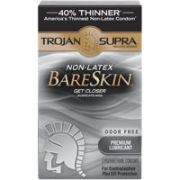 Trojan Supra Non-Latex Bareskin Lubricated Condoms, 6 ct