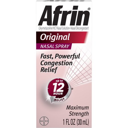 Afrin Original Cold and Allergy Congestion Relief Nasal Spray, 1 Fl Oz