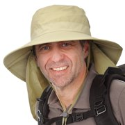 4670332a Men's Sun Protection Hat with Neck Flap Cover,Wide Brim Outdoor Fishing  Hiking Camping Hunting