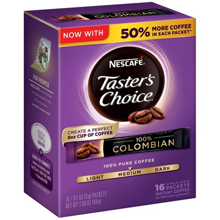 (2 Pack) NESCAFE TASTER'S CHOICE 100% Colombian Medium Roast Instant Coffee 16-.01 oz.