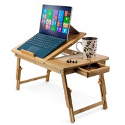 Zimtown Nature Bamboo Folding Laptop Computer Notebook Table Bed Desk Tray Stand