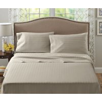 Better Homes and Gardens 400-Thread-Count Damask Stripe Performance Bedding Sheet Set King