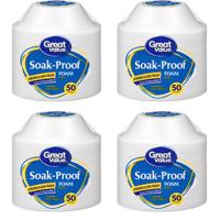 (4 Pack) Great Value Soak-Proof Foam Bowls, 50 count