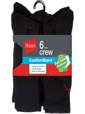 Men's Big & Tall Cushion FreshIQ Crew Socks 6-Pack