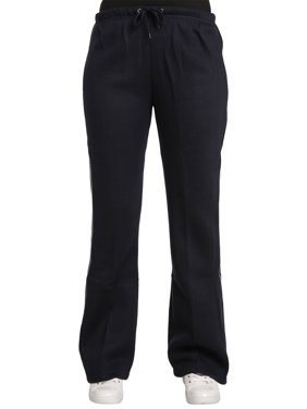 Sweet Vibes Juniors Navy Fleece Flare Sweatpants With Piping