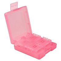 Insten For Nintendo NEW 3DS / DS / DS Lite / DSi / DSi LL / XL Game Card Case 16-in-1, Light Coral